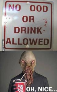 no Ood or drink