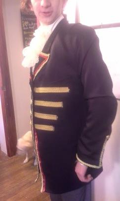 prom side coat